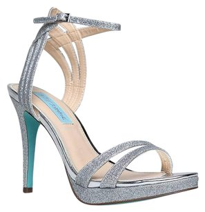 Betsey Johnson Silver Sandals