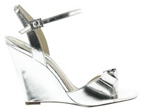 Betsey Johnson Silver Wedges