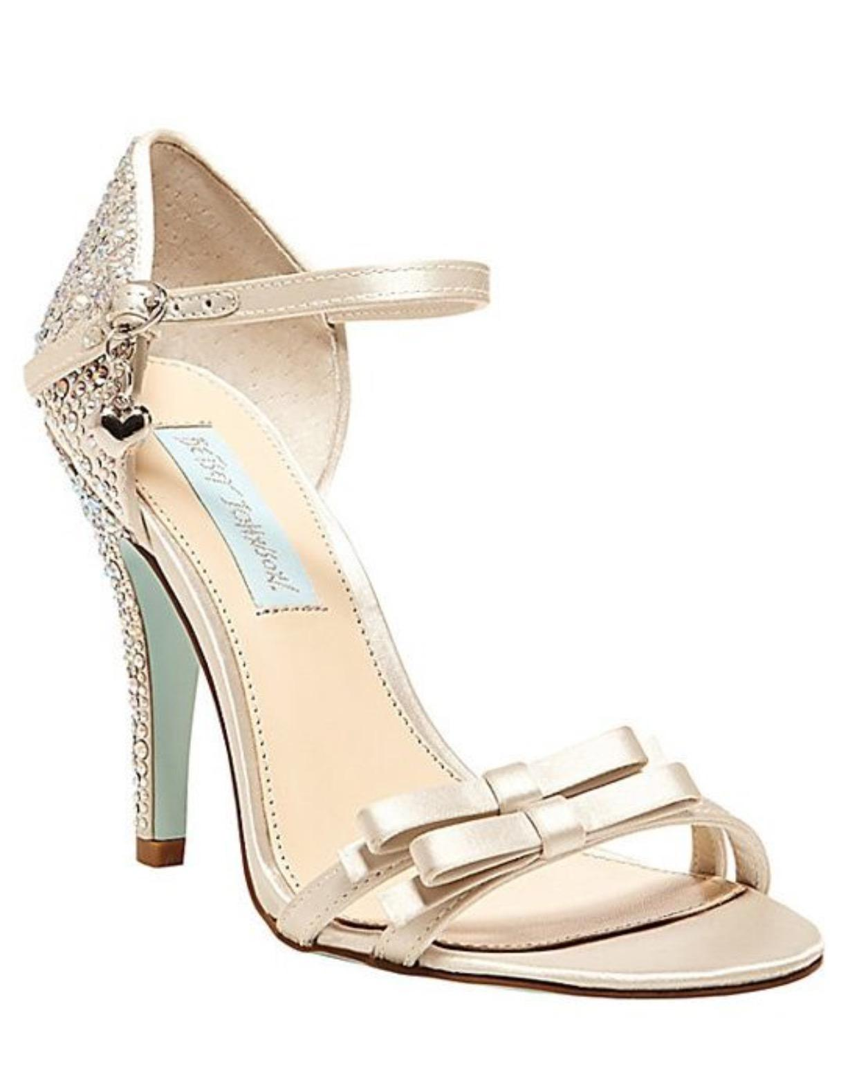 Betsey Johnson Heels Ivory Rhinestone Wedding Shoes On Sale 23% Off | Wedding Shoes On Sale