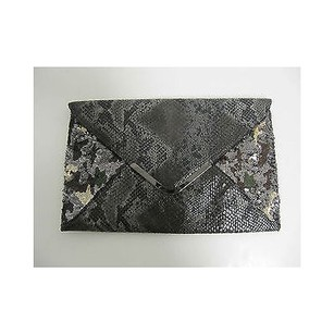 Big Buddha Lavo Python Print Blacks Clutch