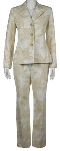 Bill Blass Bill Blass Womens Ivory Piece Suit Career Blazer Skirt Pants Trousers