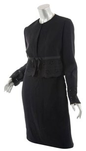 Bill Blass Bill,Blass,Black,Wool,Sheath,Dress-suit,,