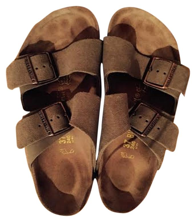 b0cb03422a1 Birkenstock Taupe Taupe Taupe Suede Arizona Sandals Size US 7 Regular (M