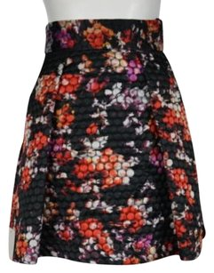 Black Halo Halo Womens Red 0 Above Knee Floral Casual Skirt Black, Red, Orange, Purple, White, Pink