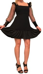 Haoduoyi Lace Sheer See Through Flare Dress