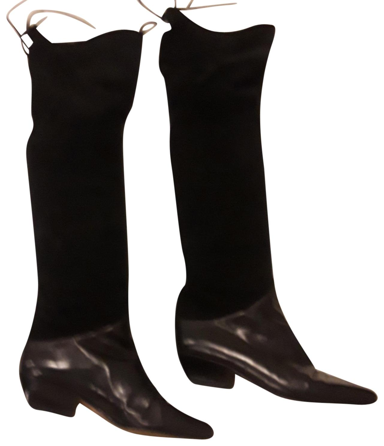 Black Thigh High Suede W/Ties Boots/Booties Size EU 36.5 (Approx. B) US 6.5) Regular (M, B) (Approx. 019dd0