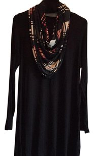Black with striped scarf short dress Black with striped scarf on Tradesy