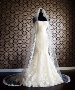 Blanca Veils Gorgeous Cathedral Length Lace Veil