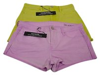 BlankNYC Set Of The Tootiesolid Gold 27 140593pk Mini/Short Shorts Pink/Lime