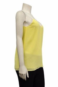 Blaque Label Yellow Long White Piped Detail Top Yellow/White