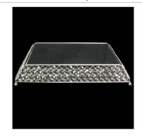 Bling Crystal Cake Stand Square Rhinestone Wedding Plateau