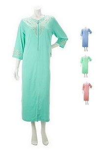 Bob Mackie Bob Mackies Sequined Zip Front Robe With Front Pockets Plus Sizes 240538rm
