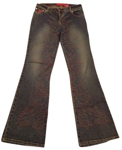 Bongo Boot Cut Pants Dark Wash Denim