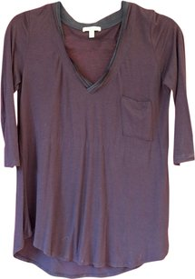 Bordeaux Black V-neck Top
