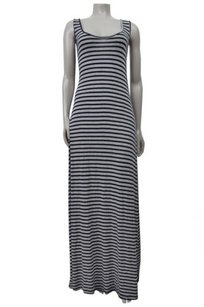 Gray navy Maxi Dress by Bordeaux Grey Striped