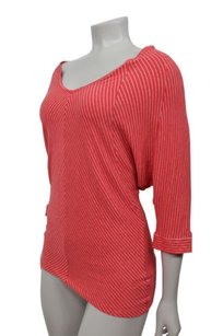 Bordeaux Anthropologie Top Red gray