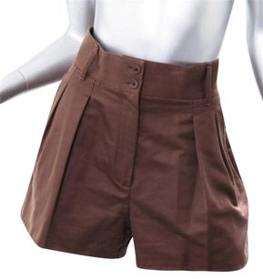 Bottega Veneta Veneta Womens Brown Casual Comfy Dress Shorts