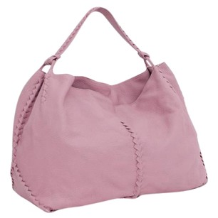 Bottega Veneta Bottega Mauve Pebbled Leather Whipstitch Handbag Hobo Bag