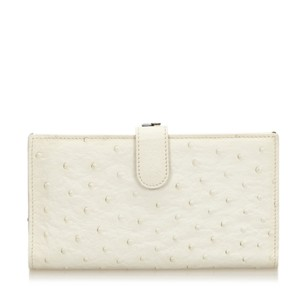 Bottega Veneta Ivory,leather,long Wallets,ostrich,6aboco002