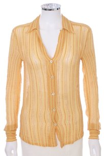 Bottega Veneta Silk Blouse Longsleeve Button Down Shirt Goldenrod