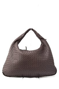 Bottega Veneta Woven Leather Suede Hobo Bag