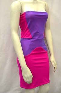 Boulee Pinkpurple Color Block Dress