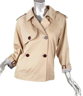 Boy. by Band of Outsiders Boy Womens Cotton Cropped Swing Coat 3m Khaki Jacket
