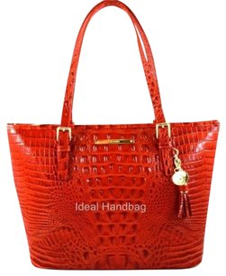 Brahmin Asher Leather Tote in Red