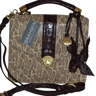 Brahmin Satchel in Natural Mini Pitone