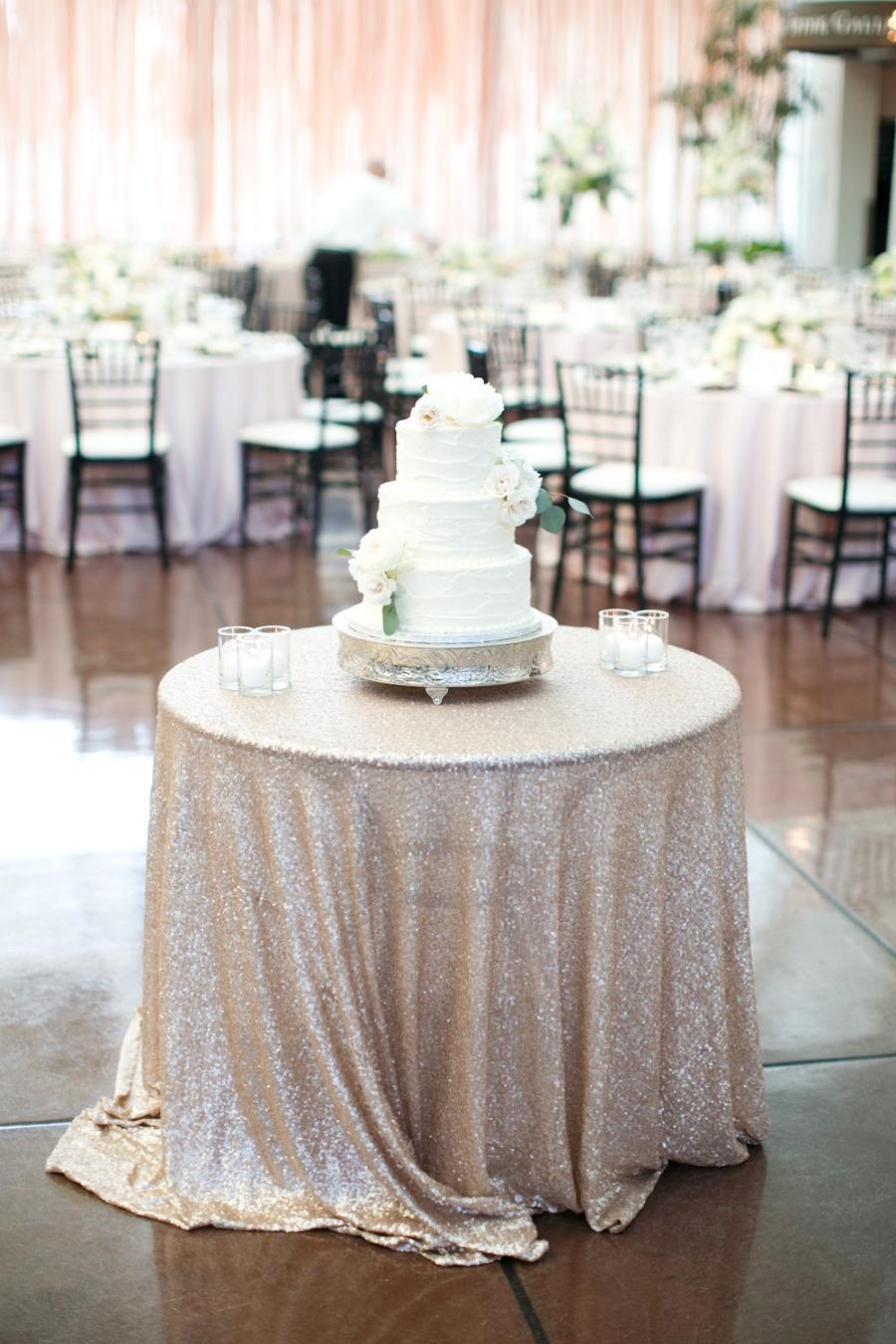 Champagne Sequin Tablecloth Handmade Sequin Table Linens