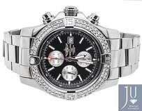 Breitling Breitling A1337111 Super Avenger Black Dial Stainless Steel With Diamonds 4 Ct
