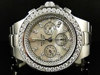 Breitling Mens Breitling Hercules Diamond Stainless Steel Band Watch 7.75 Ct
