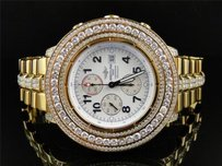 Breitling Mens Breitling Super Avenger Aeromarine 55 Mm Gold Genuine Diamond Watch 19 Ct
