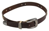 Brighton Brighton Womens Brown Grommets Belt Leather Nickle Buckle