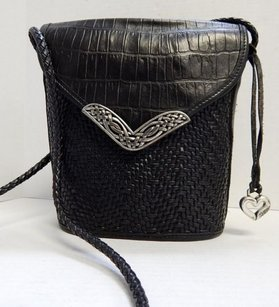 Brighton Woven Croc Cross Body Bag
