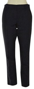 Brooks Brothers Womens Black Casual Embroidered Trousers Pants