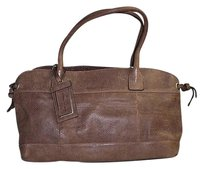 Brunello Cucinelli Antiqued Distressed Leather Handbag Chic Shoulder Bag