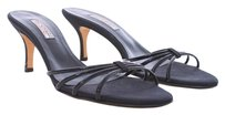 Bruno Magli Patent Leather Open Toe Italian Designer Leather Black Mules