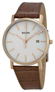 Bulova BULOVA Dress Series White Dial Rose Gold-tone Case Men's Watch BUL98H51
