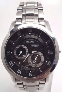 Bulova Bulova Mens 96a119 Bva Automatic Stainless Steel Watch Broken Sold As Is