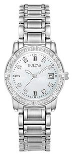 Bulova Bulova Women's 96R105 Diamond-Accented Stainless Steel Watch