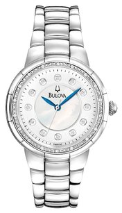 Bulova Bulova Women's 96R174 Diamond-Set Case Watch in Silver Tone