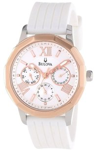 Bulova Bulova Women's 98N101 Rose Goldtone Bezel Multi-dial Watch