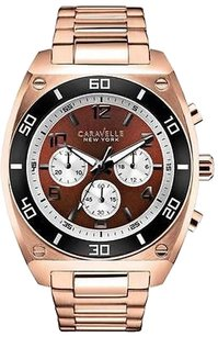 Bulova Caravelle York Rose Gold-tone Chronograph Mens Watch 45a110
