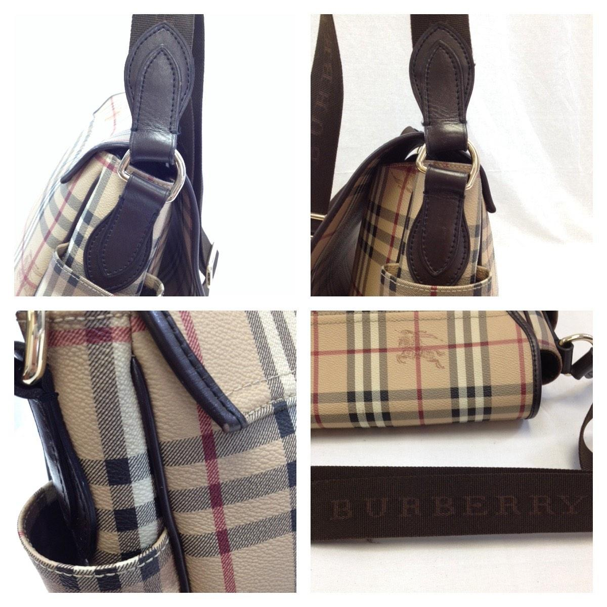 Burberry #5809 Logo Check Haymarket Crossbody Cross Body Laptop Computer  For Men Women Messenger Bag - Tradesy
