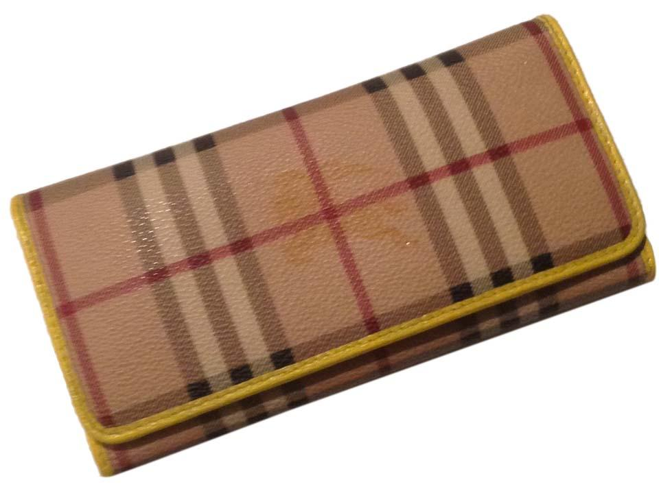 burberry wallets outlet 7dnf  Burberry Authentic Burberry Haymarket Yellow Wallet