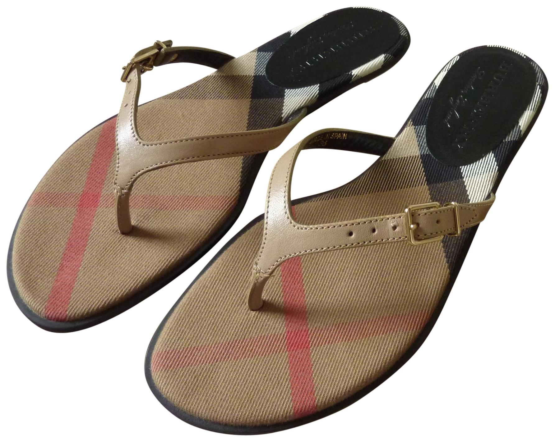 Burberry Leather Logo Sandals excellent visit new many kinds of cheap online buy cheap order cheap sale pay with visa jwZ6SQ