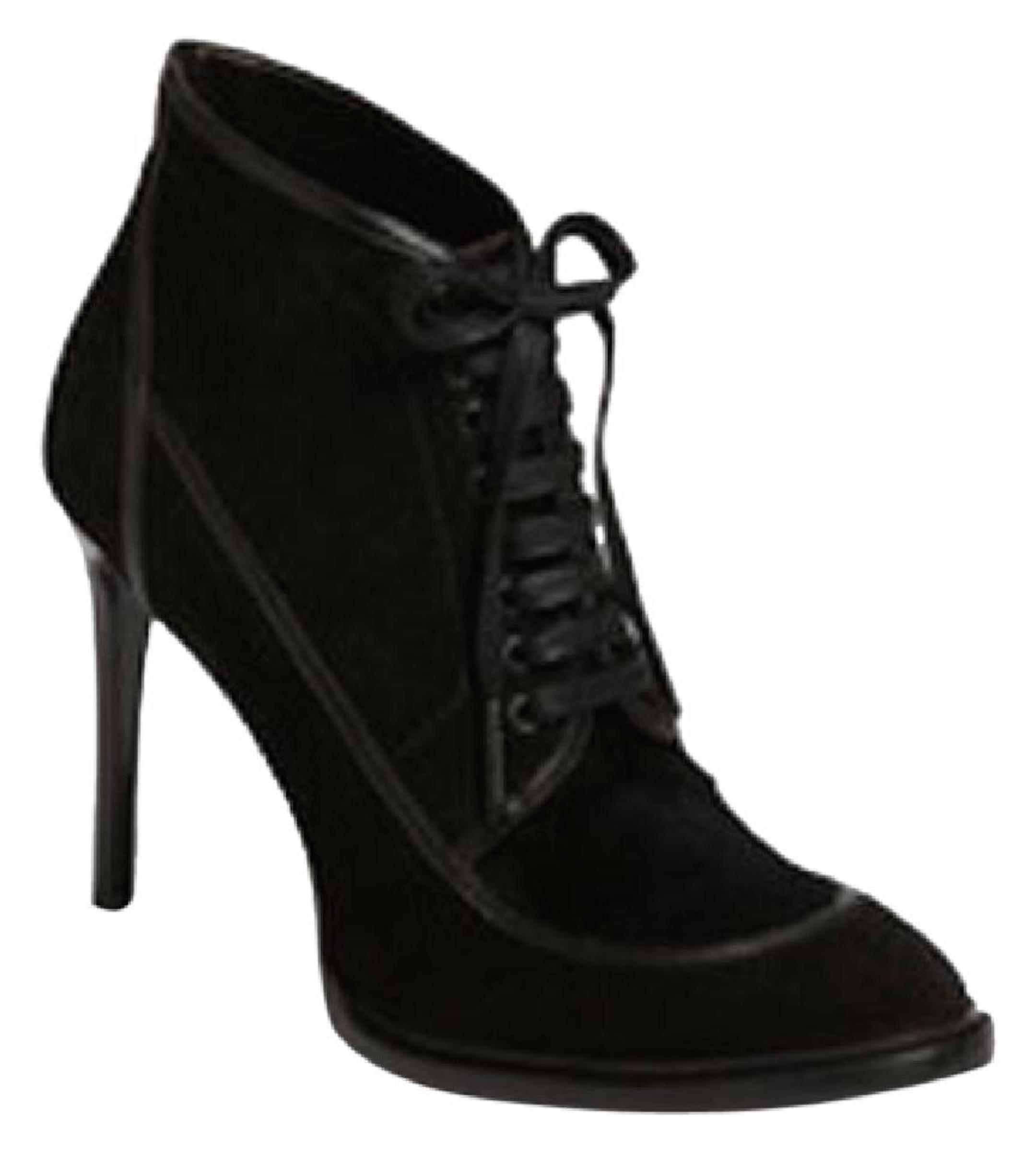 Burberry Black Heritage Panfield Suede Ankle Eu 36 Boots/Booties Size US 6 Regular (M, B)