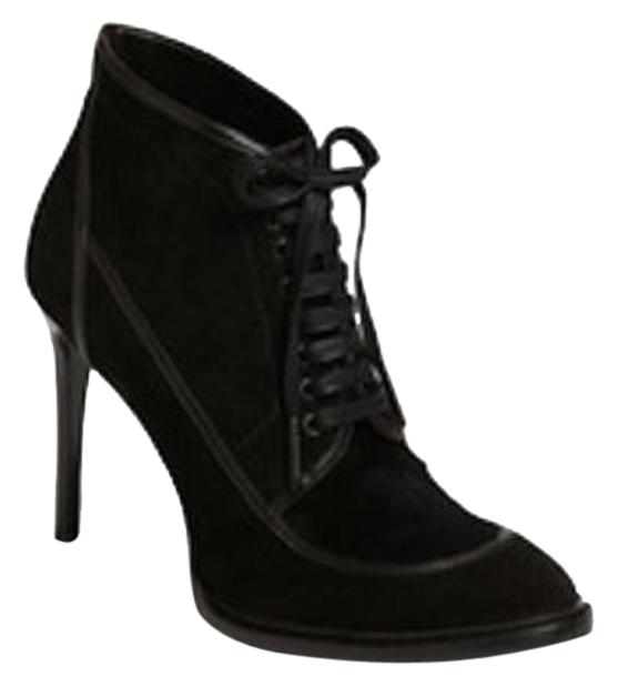 burberry black ankle boots