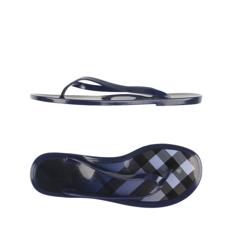 burberry silk scarf outlet g2qx  Burberry blue white black Sandals